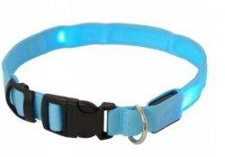 Obroża z diodami LED rozmiar XL max 68cm niebieska