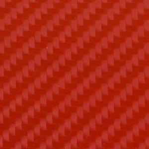 Folia odcinek carbon 4D czerwona 1,52x0,1m