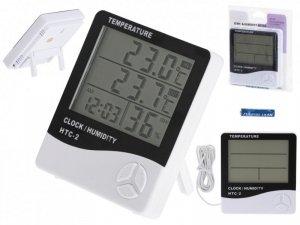 Higrometr Termometr Zegar Wilgotnościomierz HTC-2