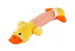 Zabawka dla psa gryzak pluszowy piszcząca kaczka
