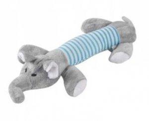 Zabawka dla psa gryzak pluszowy piszczący słoń