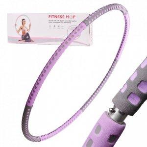 Hula hop odchudzające z masażerem fioletowo-czarne