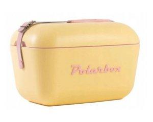 Lodówka turystyczna PolarBox retro 20L żółta