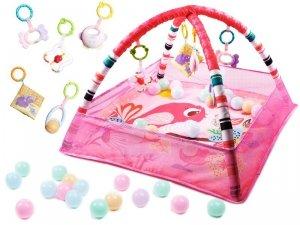 Mata Edukacyjna Kojec Basen z piłeczkami różowa