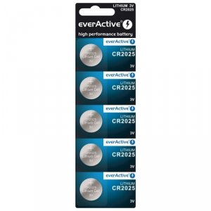 Bateria everActive litowa CR2025 blister 5szt.