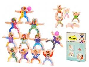Klocki balansująca wieża z klaunów do ćwiczeń manualnych