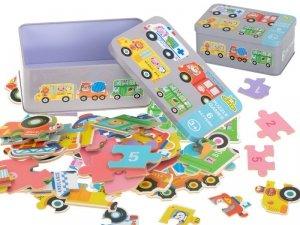 Puzzle w puszce pojazdy 30 puzzli