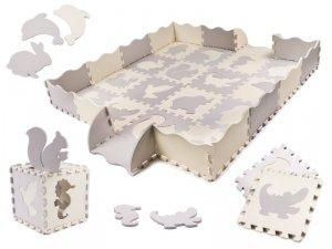 Puzzle piankowe mata dla dzieci 36el. szaro-białe