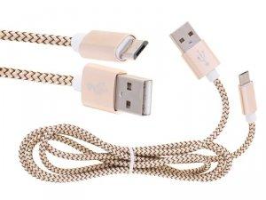 Ładowarka kabel micro USB złota