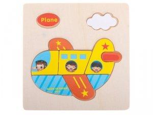 Układanka drewniana dopasuj kształty samolot