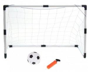 Bramki piłkarskie dla dzieci 2w1 (2szt-125x60x92cm/1szt-233x150x92cm) + piłka + pompka