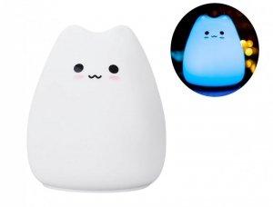 Lampka nocna dotykowa Little Cat - silikonowa LED
