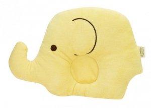 Poduszka dla niemowląt słoń 18,5cm x 25cm żółta