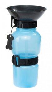 Butelka turystyczna dla psa bidon 500ml niebieska