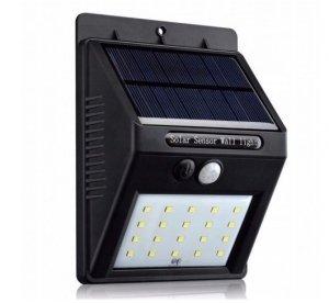 Lampa solarna z czujnikiem ruchu halogen 20LED