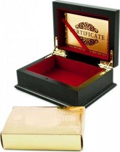 Karty do gry plastikowe złote w ozdobnej szkatułce