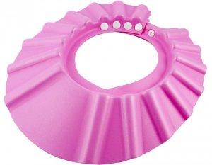 Czepek rondo ochronne do kąpieli dla niemowląt różowy