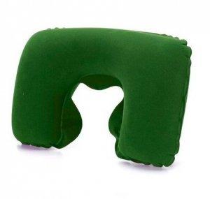 Poduszka podróżna turystyczna nadmuchiwana zielona