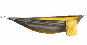 Hamak dwuosobowy 210x140cm campingowy mio-szary