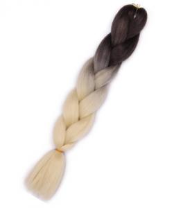 Włosy syntetyczne tęczowe ombre brąz-blond