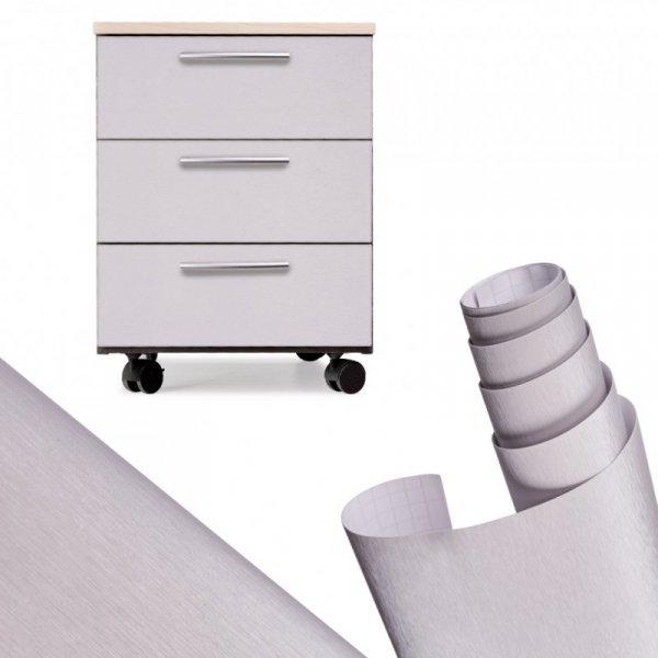 Folia rolka metalic szczotkowana srebrna 1,52x30m