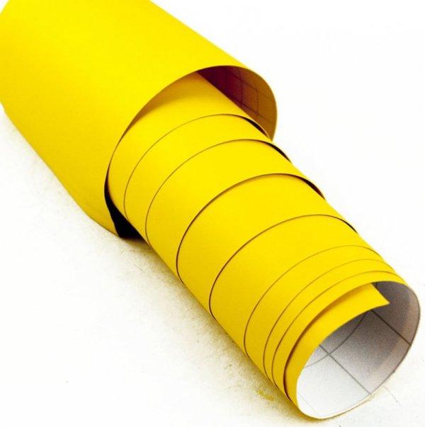 Folia odcinek matowa gładka żółta 1,52x0,1m