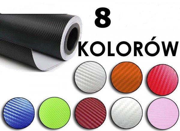 Folia rolka carbon 3D bordowa 1,27x28m