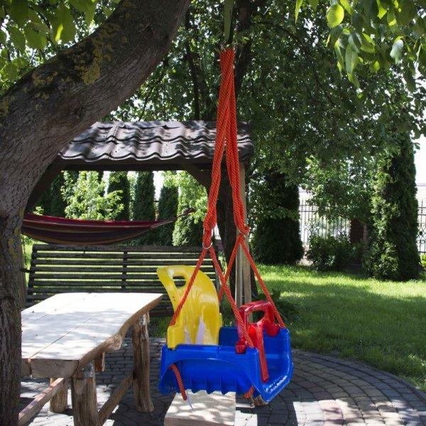 Huśtawka ogrodowa 3w1 krzesełko deska