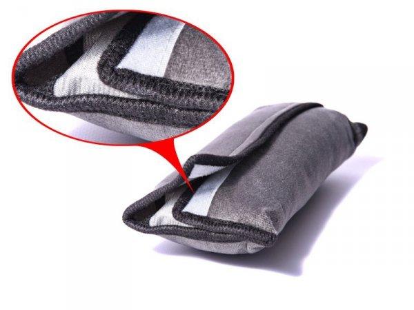 Nakładka na pasy poduszka pas bezpieczeństwa szara