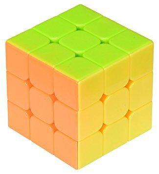 Gra logiczna Kostka łamigłówka 3x3 neon 5,65cm