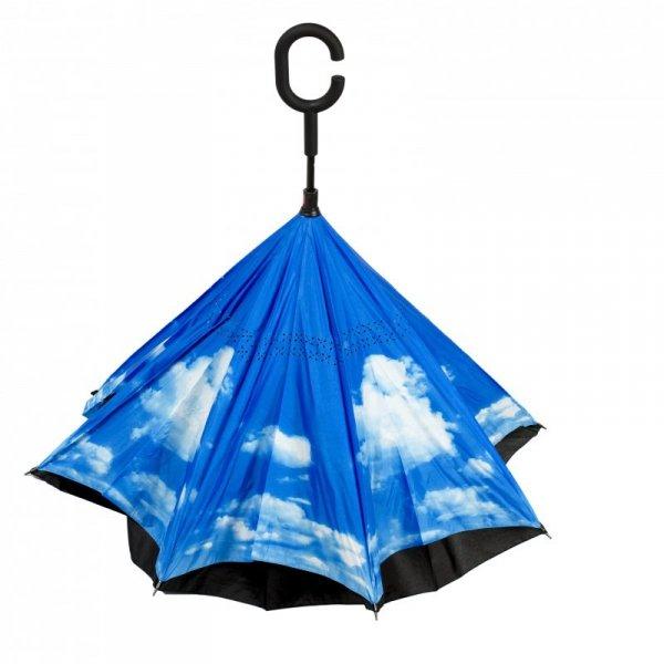 Parasol odwrotnie otwierany składany niebo