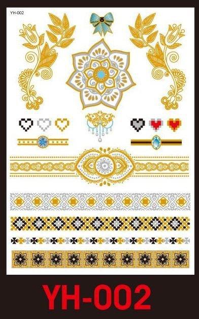 Tatuaże metalic złote srebrne FLASH TATTO YH-002