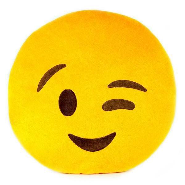 Poduszka Dekoracyjna  Emotki Emoji - oczko