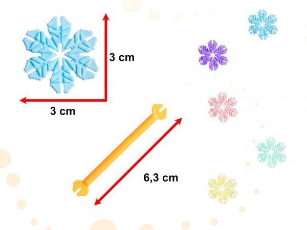 Klocki Przestrzenne Płatki śniegu edukacyjne 1000