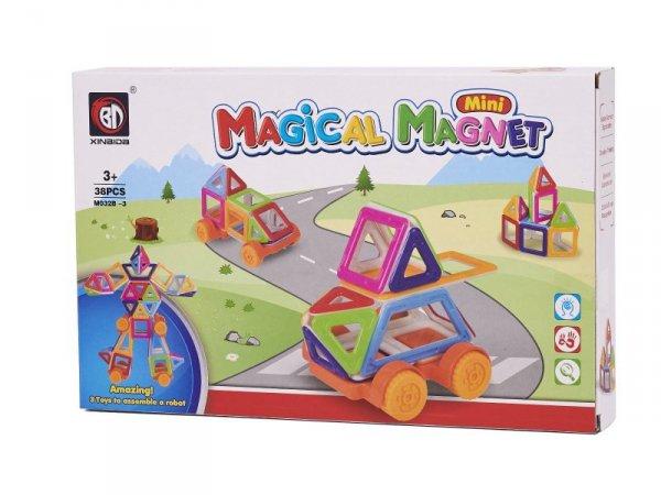 Klocki magnetyczne MAGICAL MAGNET MINI 38szt 3+ v1