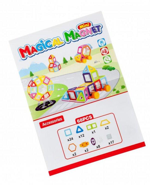 Klocki magnetyczne MAGICAL MAGNET MINI 68SZT 3+