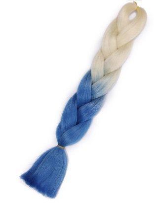 Włosy syntetyczne tęczowe ombre blond-niebieski