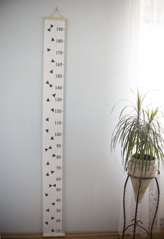 Miarka wzrostu płótno wisząca 20x200cm trójkąty