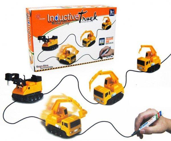 Pojazd indukcyjny koparka MAGIC INDUCTIVE CAR + mazak