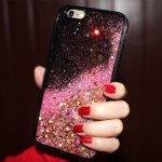 Etui na iPhone 7 różowy brokat