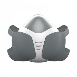 Akumulatorowa maska antysmogowa biało-szara