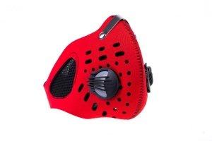 Maska przeciw smogowi DUO czerwona ( plus filtr )
