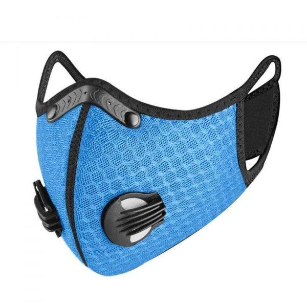 Maska dla nastolatków oddychająca ACTIVE KIDS błękitna