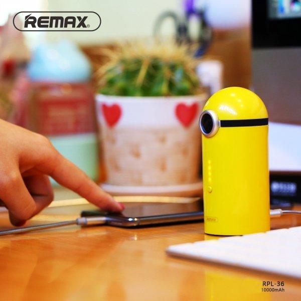Powerbank Minionek Remax żółty 10000 mAh