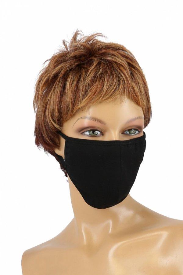 maska z kieszonką na filtr bawełniana czarna