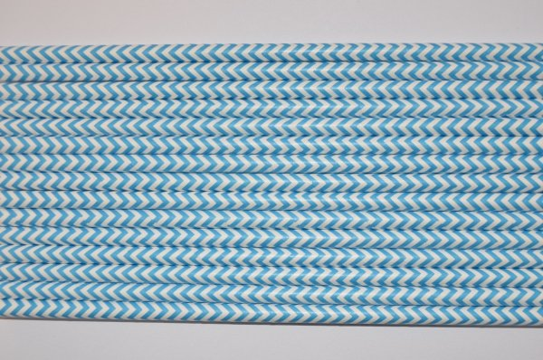 niebieskie słomki papierowe