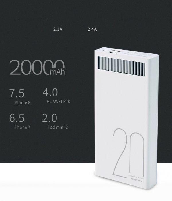 Rewolucyjny powerbank 20000 mAh Remax RPL-58