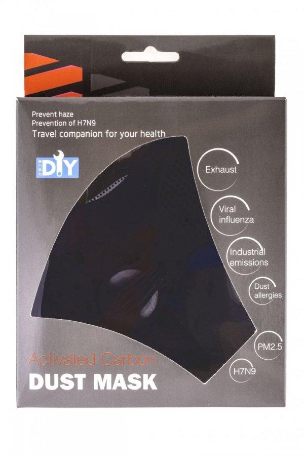 Maska rowerowa ACTIVE czarna z filtrem S/M