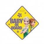 TABLICZKA BABY ON BOARD FROZEN