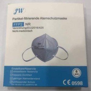 FFP2 Atemschutzmasken der Marke JW (6 Stk.)